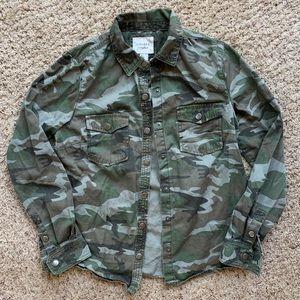 Army print light jacket